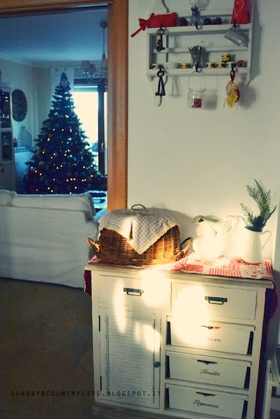 My home at Christmas [ a little of kitchen ]-shabby&countrylife.blogspot.it