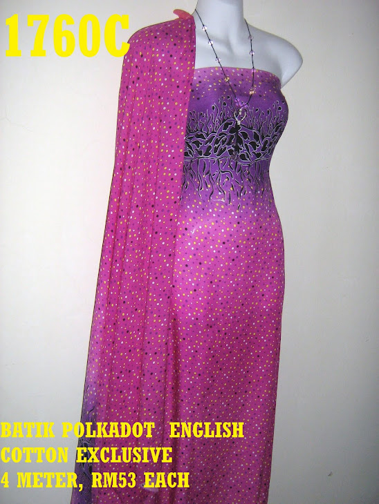 BPE 1760C: BATIK POLKADOT ENGLISH COTTON EXCLUSIVE, 4 METER