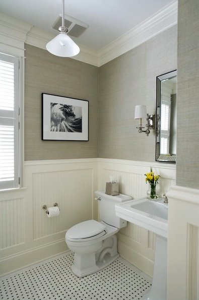 Twine how to update a 70 39 s bathroom for Powder room color ideas