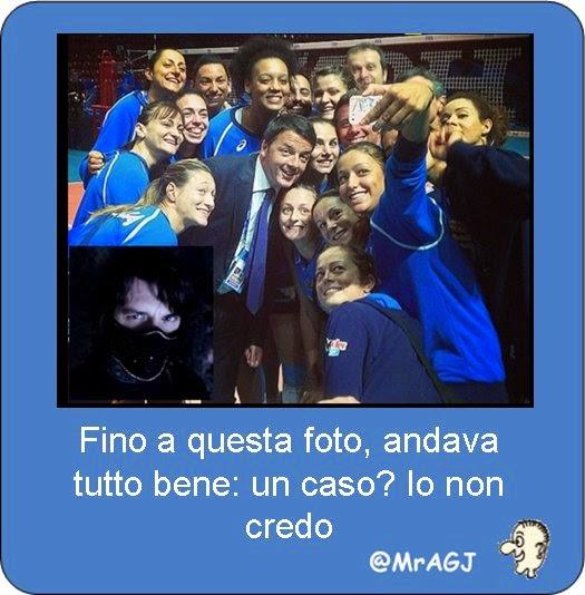 Volley, Renzi, Selfie