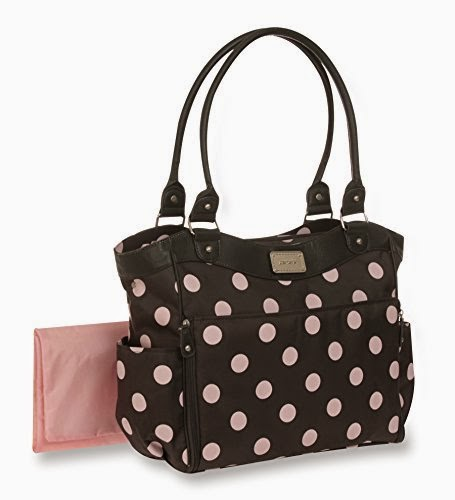 Carter's Dot Print Tote Diaper Bag, Grey