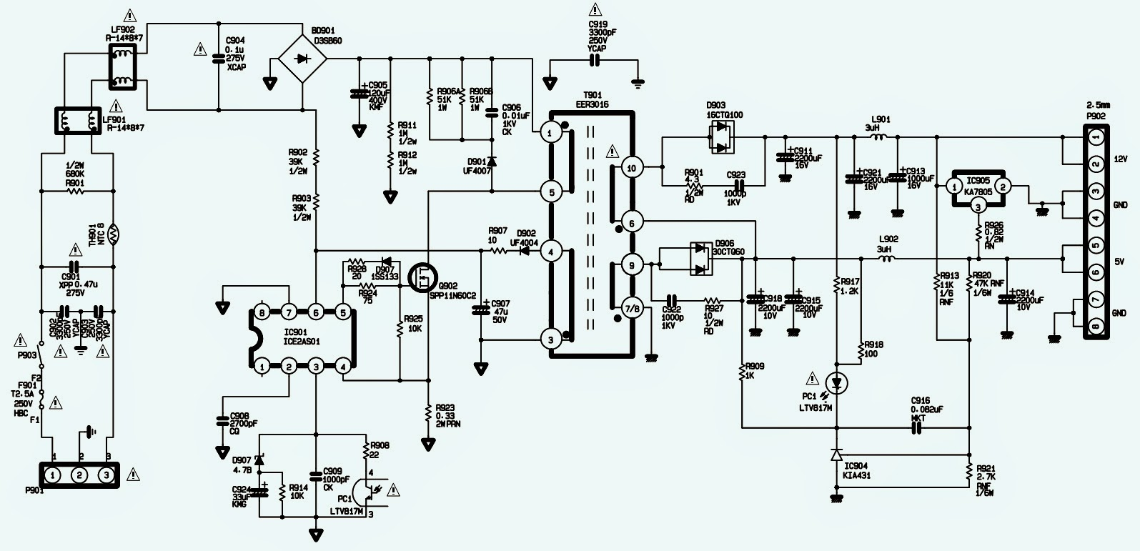 LG FLATRON L1810B Monitor SMPS SCHEMATIC Power Supply Circuit – Lg Wiring Diagram