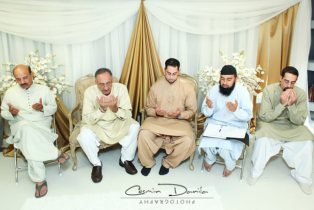 The prayer is part of the Muslim wedding ceremony