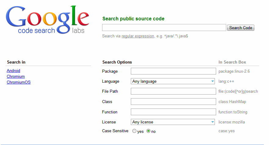 how to search google from java program
