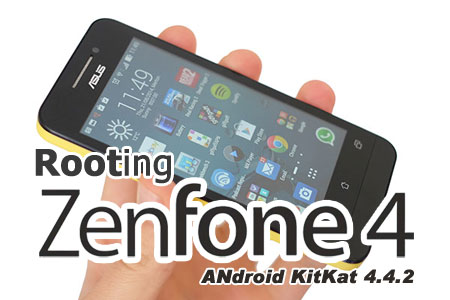 Cara Root Smartphone ASUS Zenfone 4 Android Kitkat | blankONku