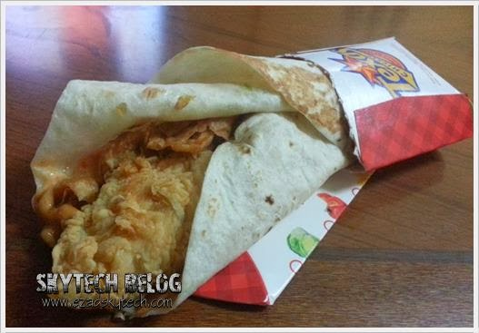 Ketagihan Mexicana Wrap Tecas Chicken