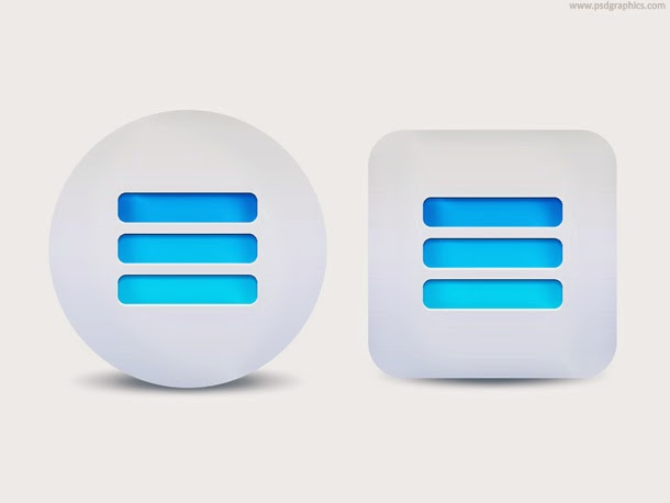 Expand Menu Button PSD