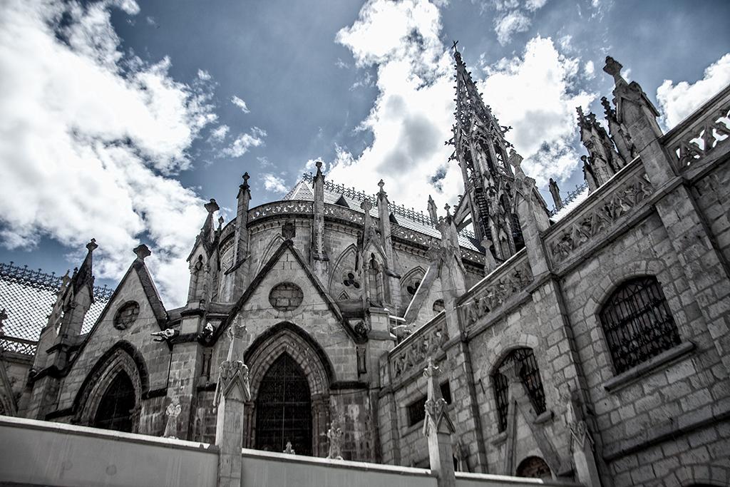 Detalle de la Basílica del Voto Nacional, Quito, Ecuador
