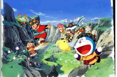 Nobita Doraemon dan teman-teman di negeri angin