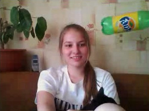 Belarus girl and the flying Fanta