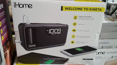 iHome Kineta IKN95: alarm clock, radio, and battery pack all in one