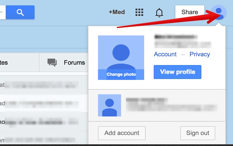 how to delete gmail account profile photo