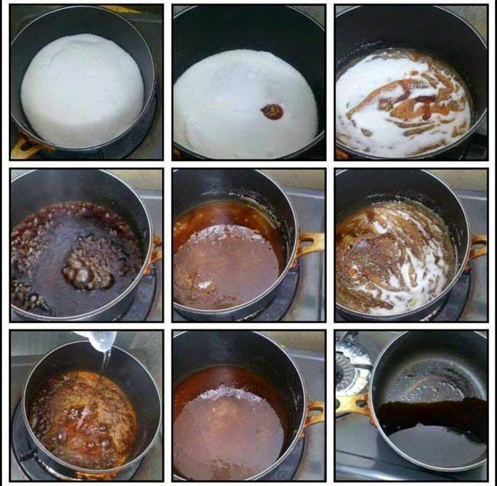Tahap Membuat Karamel dari Gula