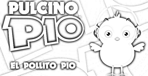 Pulcino pio coloring pages - the little chick cheep coloring pages