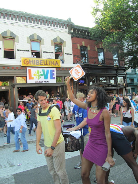 Spontaneous dance party at the 2013 Capital Pride Parade