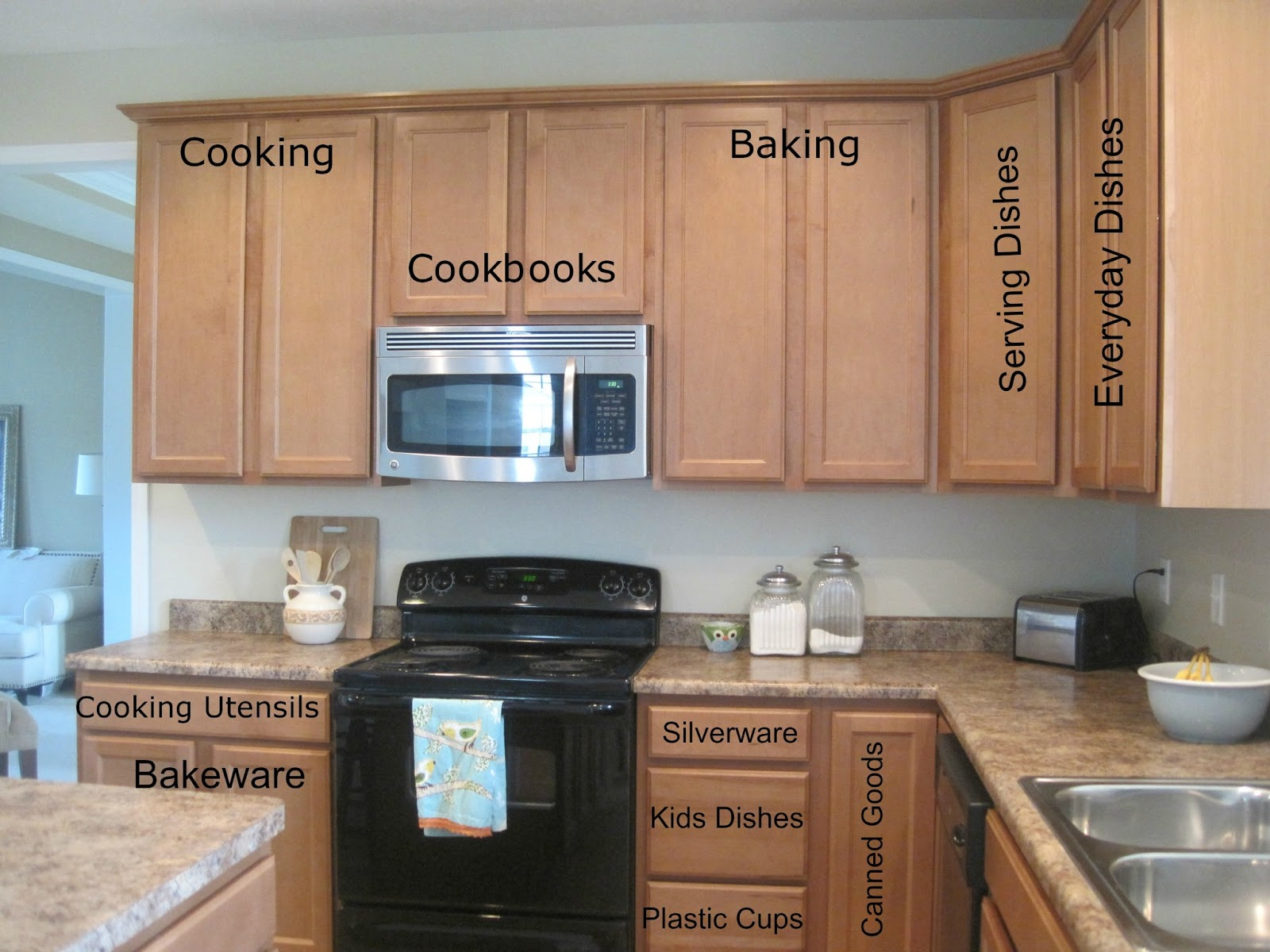Designed to dwell kitchen organization complete for Arranging kitchen cabinets