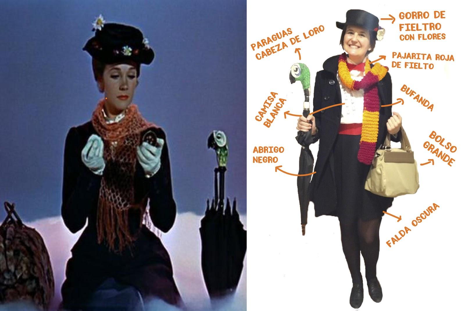 disfraz de la pelicula mery poppins