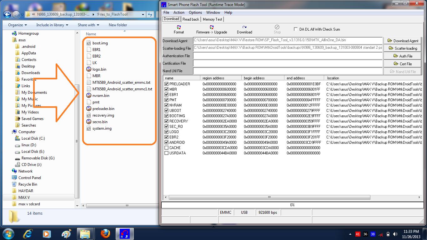 copy file PMT, NVRAM, SEC_RO ke folder !Files_to_FlashTool