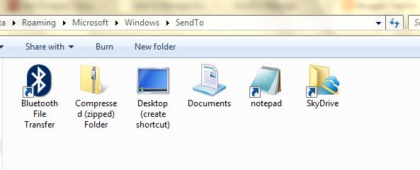 send to folder