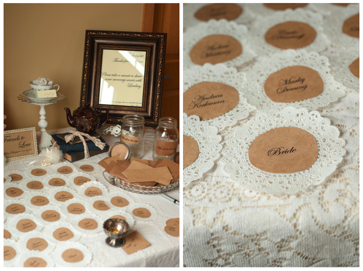 Home confetti vintage bridal shower for Classy kitchen tea ideas