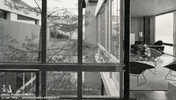 Cologny (Suisse) - Villa Francis Gaillard  Architectes: Francis Gaillard, André Gaillard, Maurice Cailler  Construction: 1954 - 1955