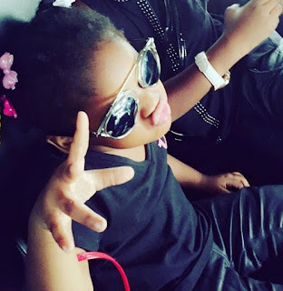 Aww! 2face Idibia's Adorable Daughter Looks Just Like Him, Clocks 2 (Photos)