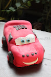 Carving Cake - Cars Cake