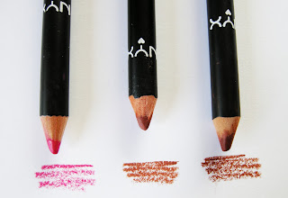 review delle nyx long lip pencil numeri 16 17 18