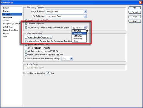 Sačuvaj u pozadini i automatski sačuvaj funkcije u Adobe Photoshop CS6