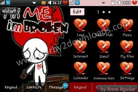 Samsung Corby 2 Theme: Heart Broken | Corby 2 Downloads