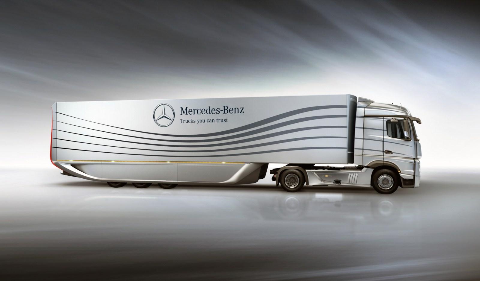Mercedes benz aero truck concept garage car for Mercedes benz garages