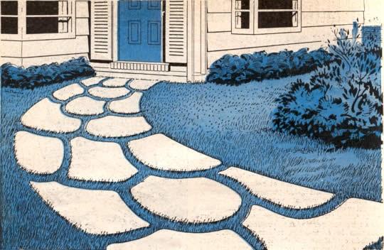 Construya su propio camino de baldosas interesante idea - Baldosas de jardin ...