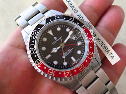 STEINHART OCEAN GMT DIVER 1000ft / 300meter BLACK RED ( COKE ) BEZEL - AUTOMATIC ETA 2893-2