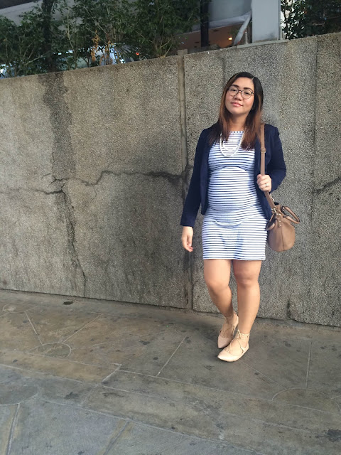 Pois & Belly, The SM Store, Primadonna, Ayla, Girl Shoppe, Giordano, Aldo, Stripes, Stripes dress, Blazer, Sling Bag, Strappy Sandals, Camel, Nude, CHic, Casual, Style, Fashion, Style Blogger, Fashion Blogger, Life of A, Aizha Guevarra, Motherhood, ootd, outfit of the day, look of the day