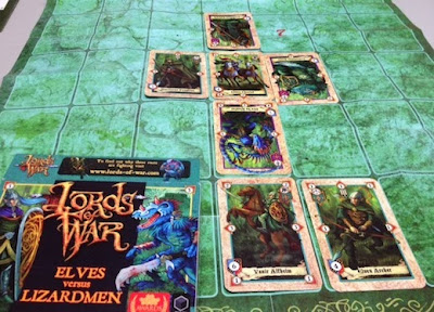 Card game of Lords of War in play