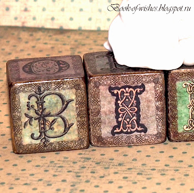 wooden vintage letter blocks