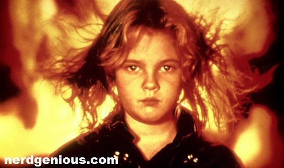 Post ET: The Extra Terrestrial child star Drew Barrymore as Charlie McGee in Firestarter