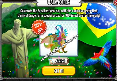 imagen de la oferta especial del dragon carnival de dragon city