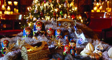 Las Matrioskas en la navidad rusa