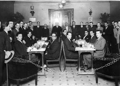 Sala de juego del Ajedrez Condal Club en 1931
