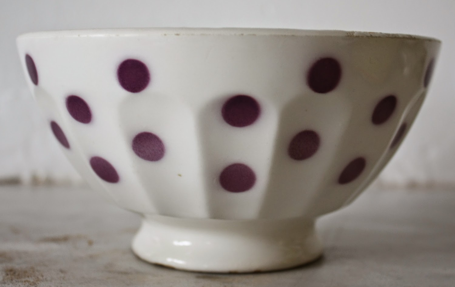 polka dots cafe au lait bowl