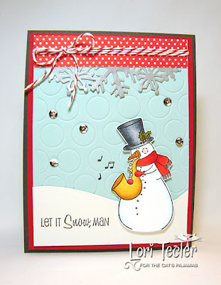 Let it Snow, Man-designed by Lori Tecler-Inking Aloud-stamps and dies from The Cat's Pajamas