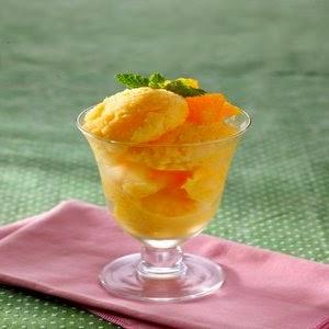 Cara Membuat Es Segar Orange Yoghurt Shorbet