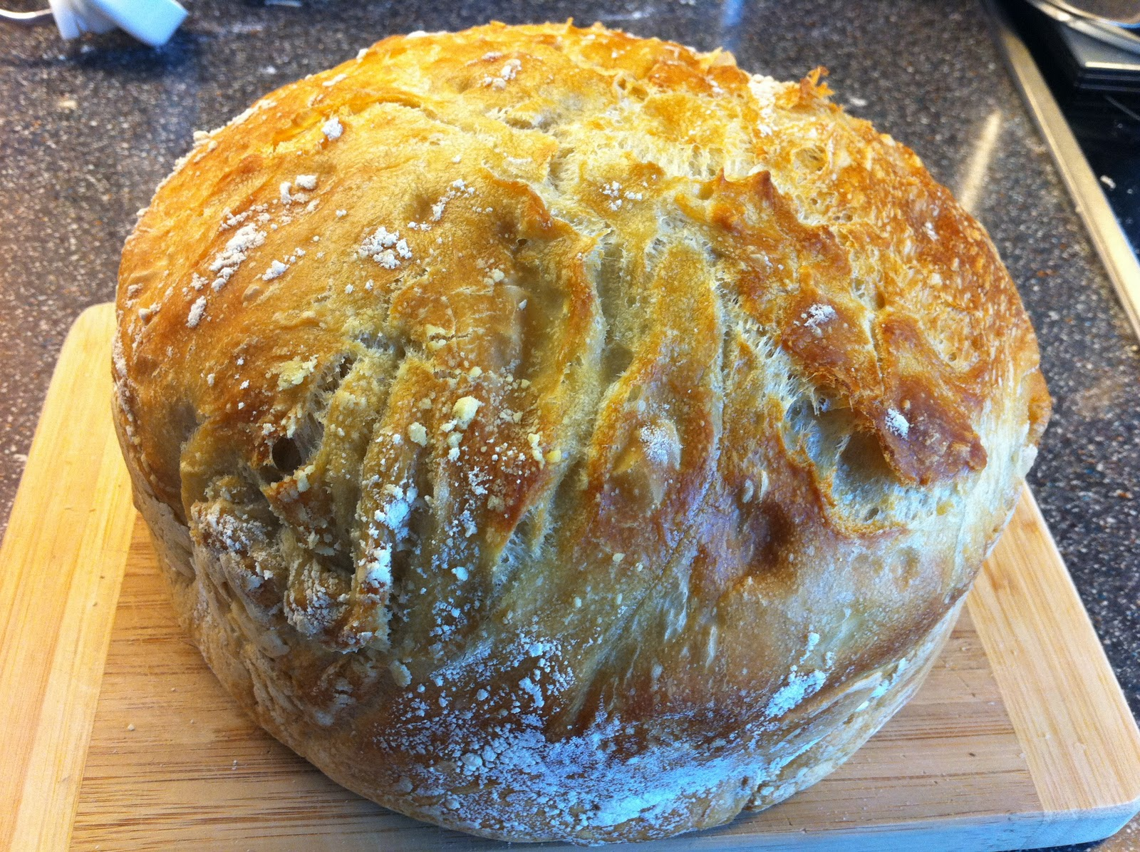 brød bagt i gryde