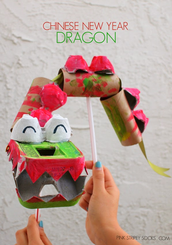 recycled craft- Chinese New Year dragon