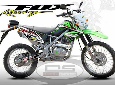 Striping Klx 150 Fox Klx 150 Fox Racing Hitam