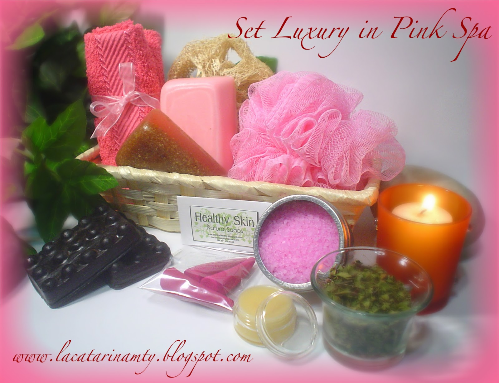 Set De Baño Relajante:SET LUXURY IN PINK SPA