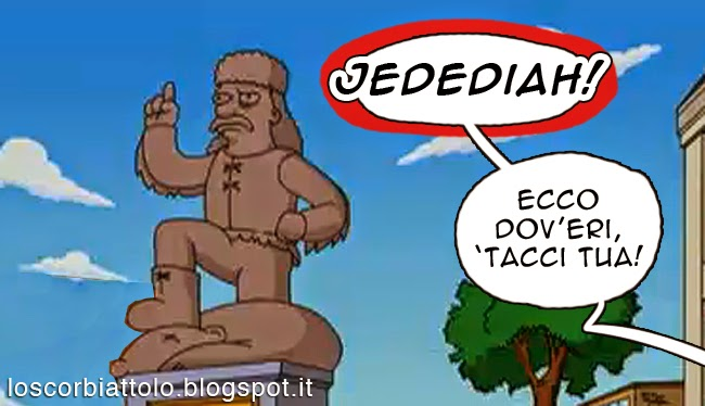jedediah springfieeld meme gag hammer mondadori comics simpson lo scorbiattolo