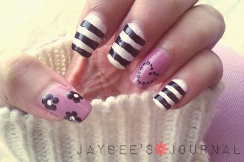 Simple Nail Art Design, Pakistani Nail Art, Beauty and Lifestyle Blog