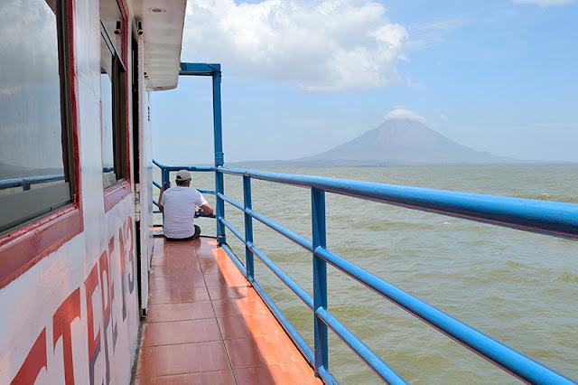 À bord du ferry en route pour l'île d'Ometepe